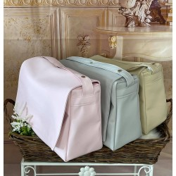 Bolso maleta polipiel camel